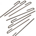 Steel anchoring pegs x8