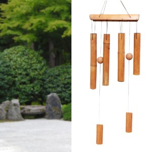 Bamboo wind chime tunnel