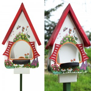 Hand made bird feeder - white