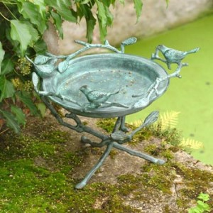 Bronze Bird bath