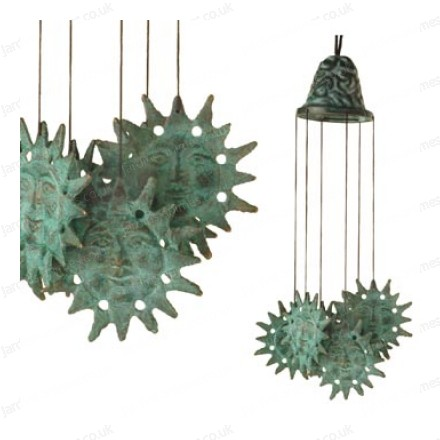 Bronze sun wind chime