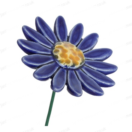 Ceramic flower - dark blue daisy