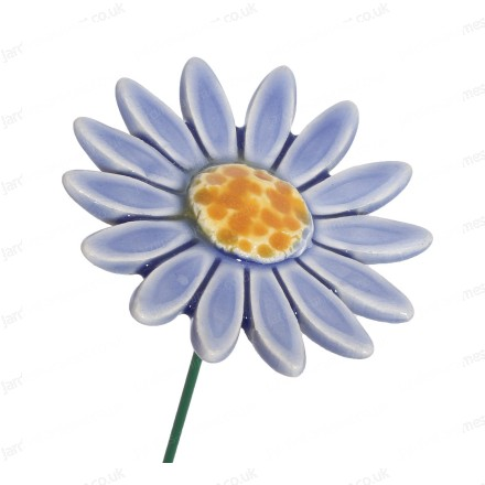 Ceramic flower - light blue daisy