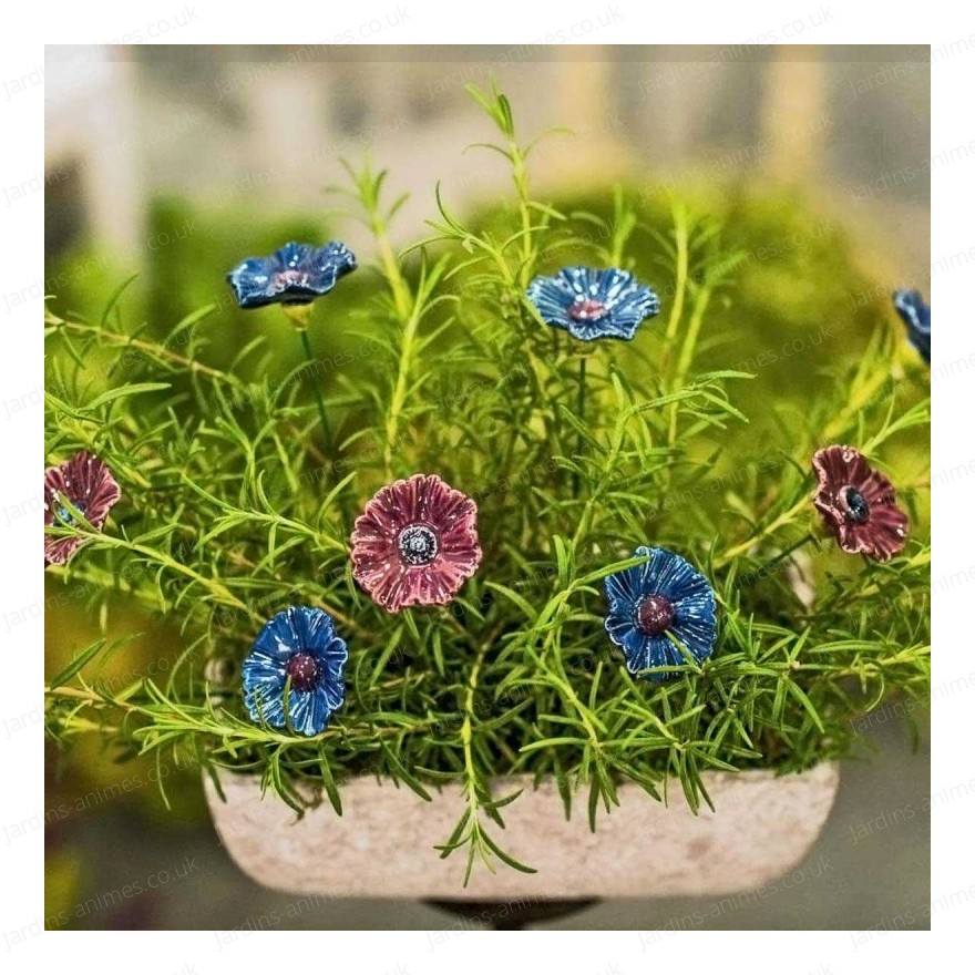 Ceramic flower - blue cornflower