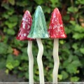 Ceramic Garden Mushrooms - Automn Decor