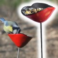 Poppy ceramic bird feeders x3 - diam.7cm