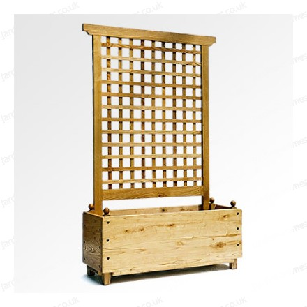 Chestnut Planter with Trellis - Renaissance