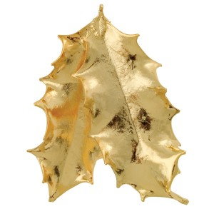 Double Holly leaf - 24 karat Gold