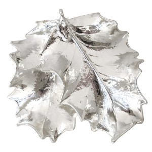 Double Holly leaf - Silver