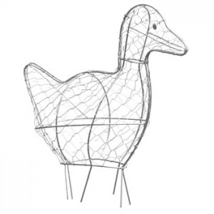 Duck topiary frame