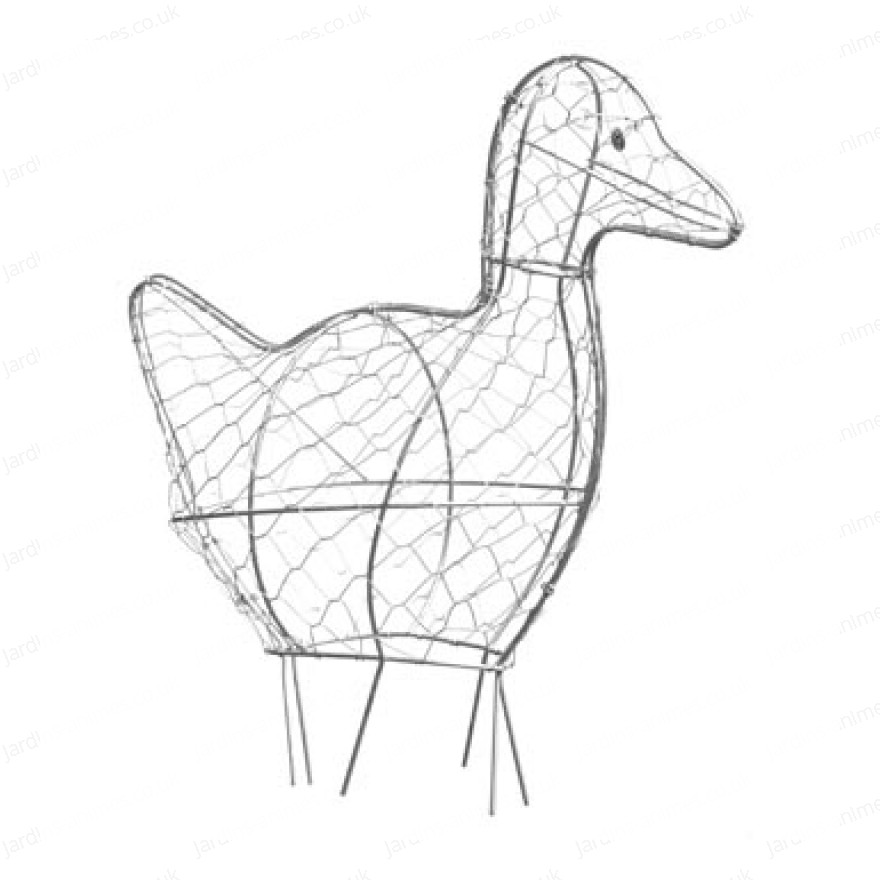 How To Make Topiary Animals Part - 38: Duck Topiary Frame