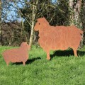 Garden sheep silhouette