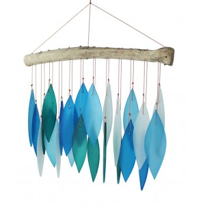 Glass Wind chime - Blue