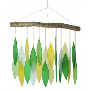 Glass Wind chime - Greenish