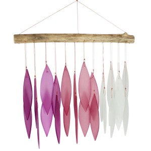 Glass wind chime - purple pink