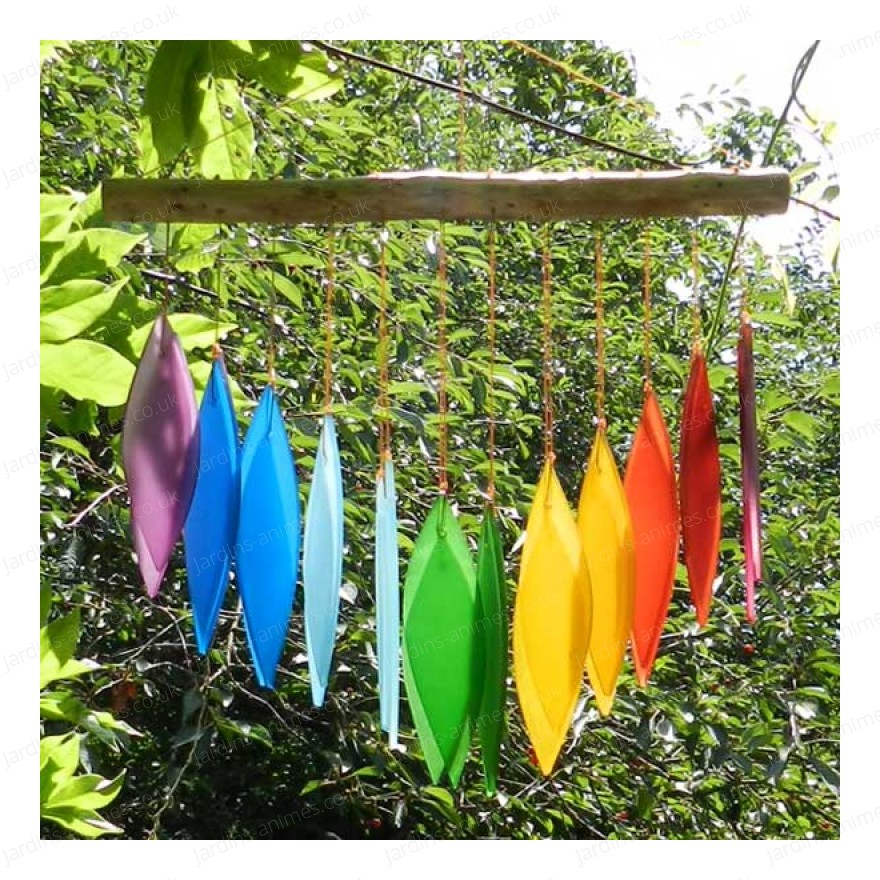 Glass Wind chime - Rainbow V