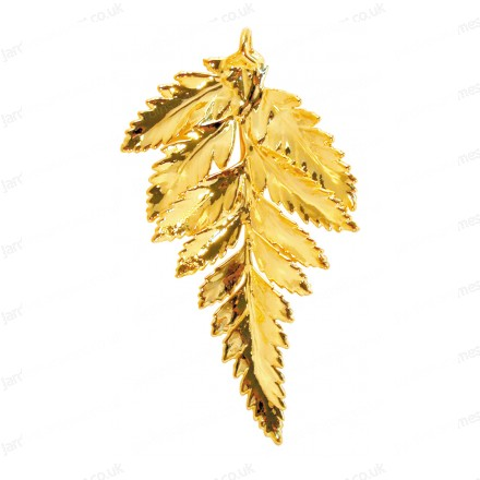 Fern leaf - 24 karat Gold