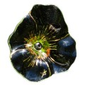 Glass decorative poppy - Black