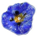 Glass decorative poppy - Dark blue