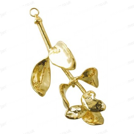 Mistletoe leaf - 24 karat Gold