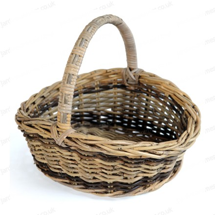 Traditional rattan basket