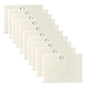 Transparent labels 95x70mm pack of ten