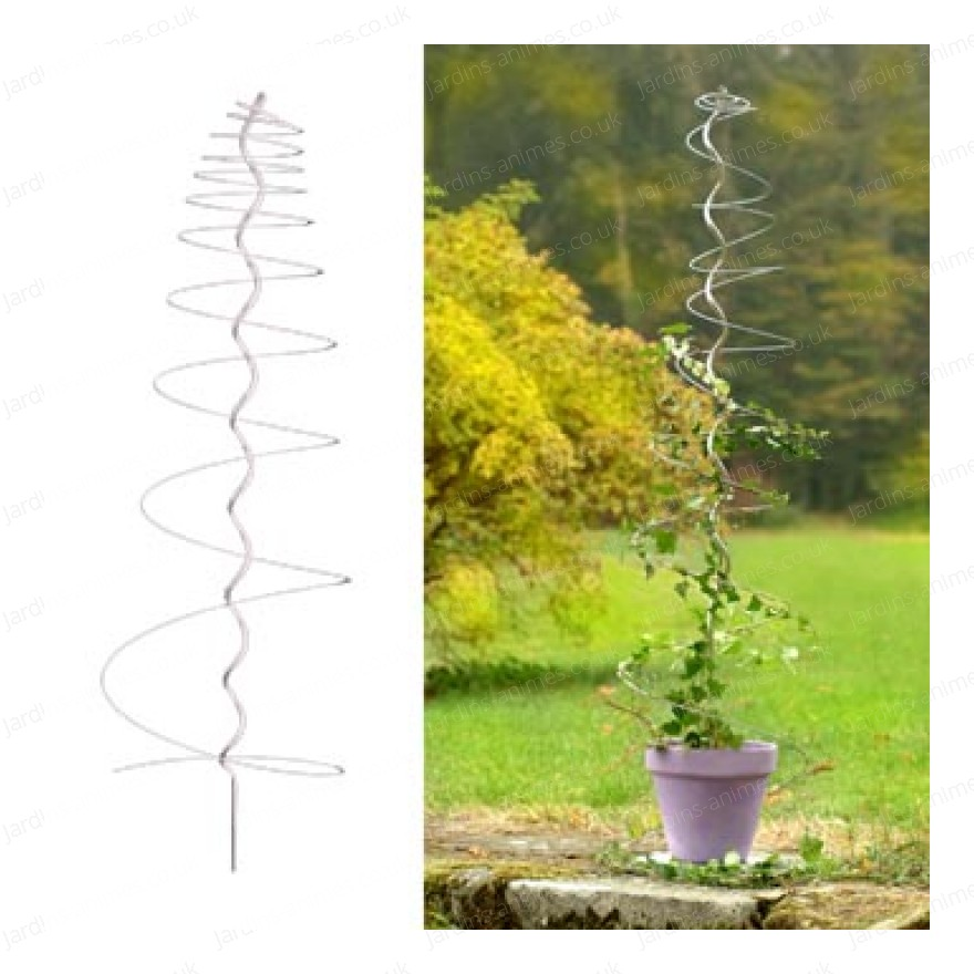 Clematis spiral sculpture support for Decoration jardin spirale