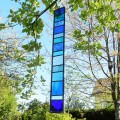 Stained glass mobile - blue