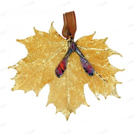 Sugar Maple with seed - 24 karat Gold