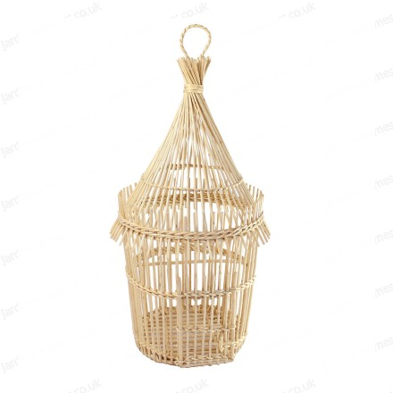 Handmade wicker bird cage