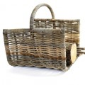 Rustic log basket