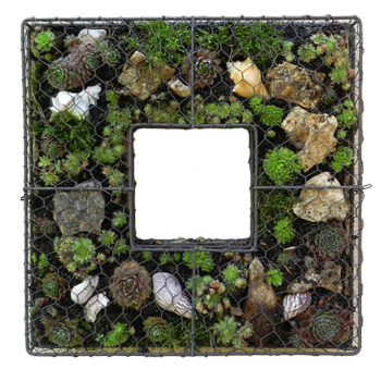 Square decorative wreath