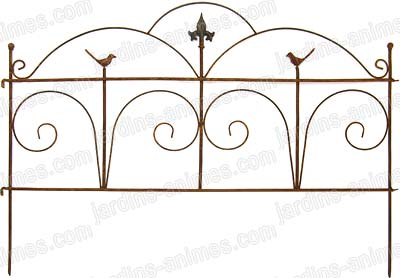 Classical wrought iron fence