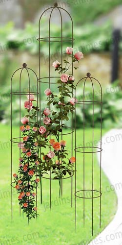 Solid steel rose column