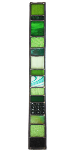 Stained glass mobile - green